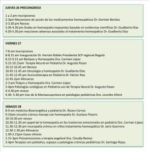 Programación IV Simposio Internacional de Medicina Integrativa en Pediatría