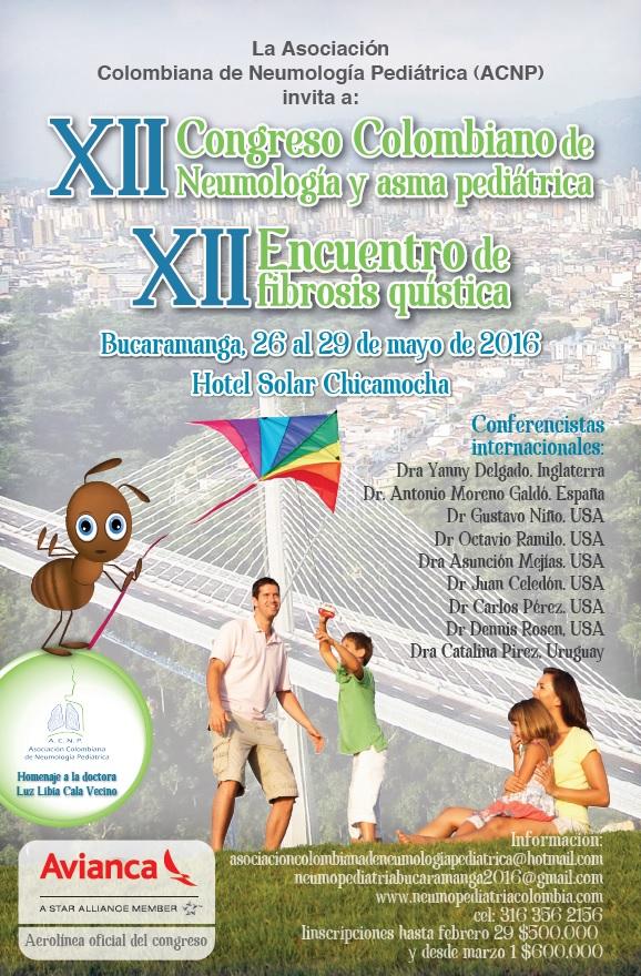 El XII Congreso Colombiano de Neumología y Asma Pediátrica será en Bucaramanga