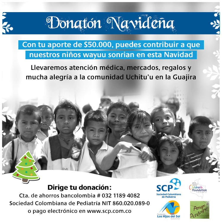 Sonrisas para los niños wayuu en Navidad: dona $50 mil y haz parte de los 1.000 pediatras por esta causa