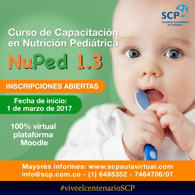 Curso virtual en Nutrición Pediátrica, para profesionales de la salud del país y el extranjero