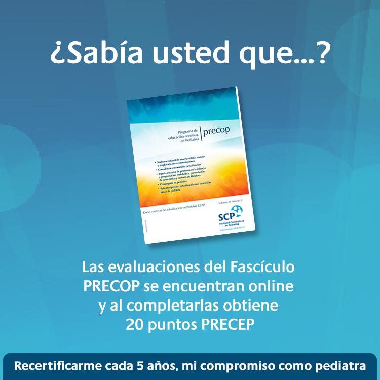 Programa de Educación Continua en Pediatría-PRECOP, disponible online