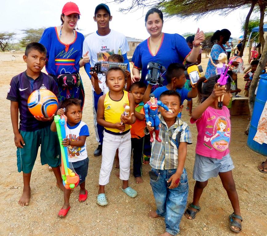 Las sonrisas de los niños y niñas wayuu también son nuestra razón de ser
