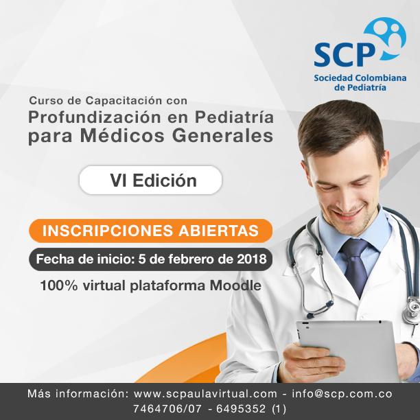 Nuevos contenidos y una sesión en vivo en el Curso de Pediatría para Médicos Generales 2018