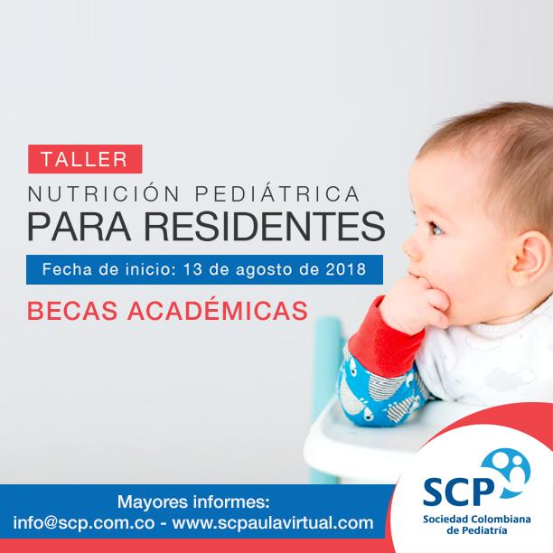 Sociedad Colombiana de Pediatría entrega becas académicas en el Taller Nutrición Pediátrica para Residentes